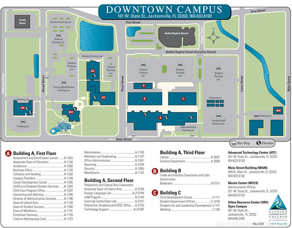 Amazing Fscj Downtown Campus Map Photos - Printable Map - New ...